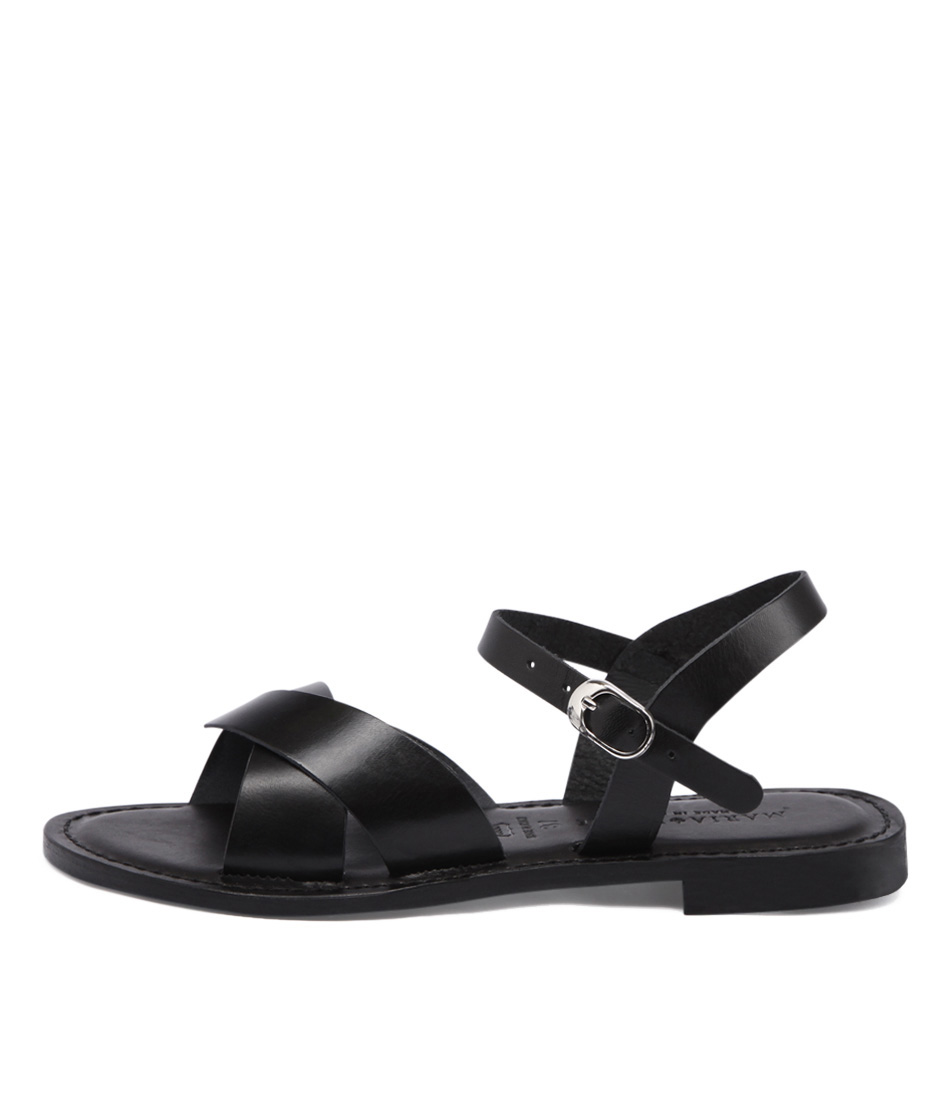 Maria Rossi Enza 1293 Black Casual Flat Sandals buy  online