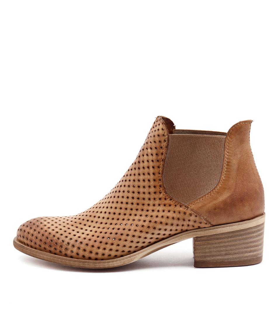 Maria Rossi Veida Tan Casual Ankle Boots