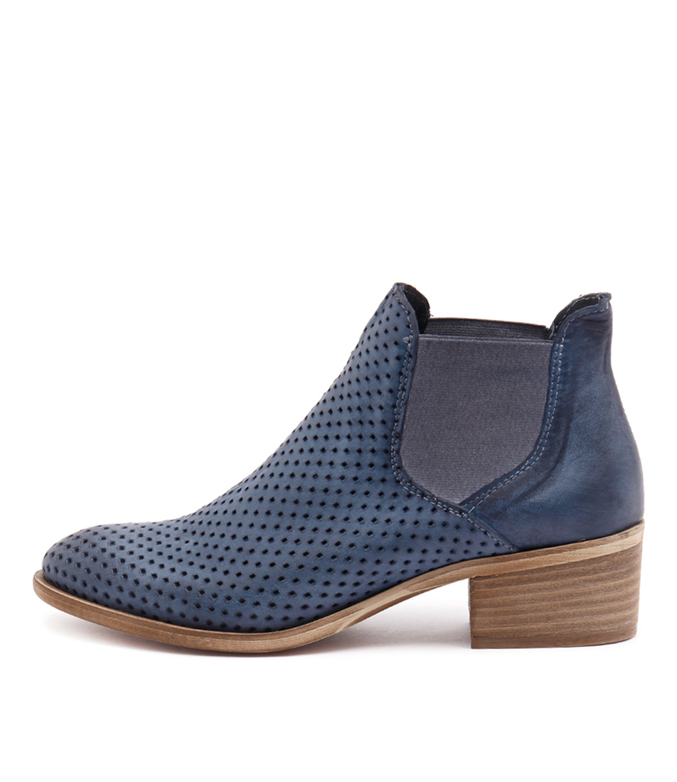 Maria Rossi Veida Blue Casual Ankle Boots