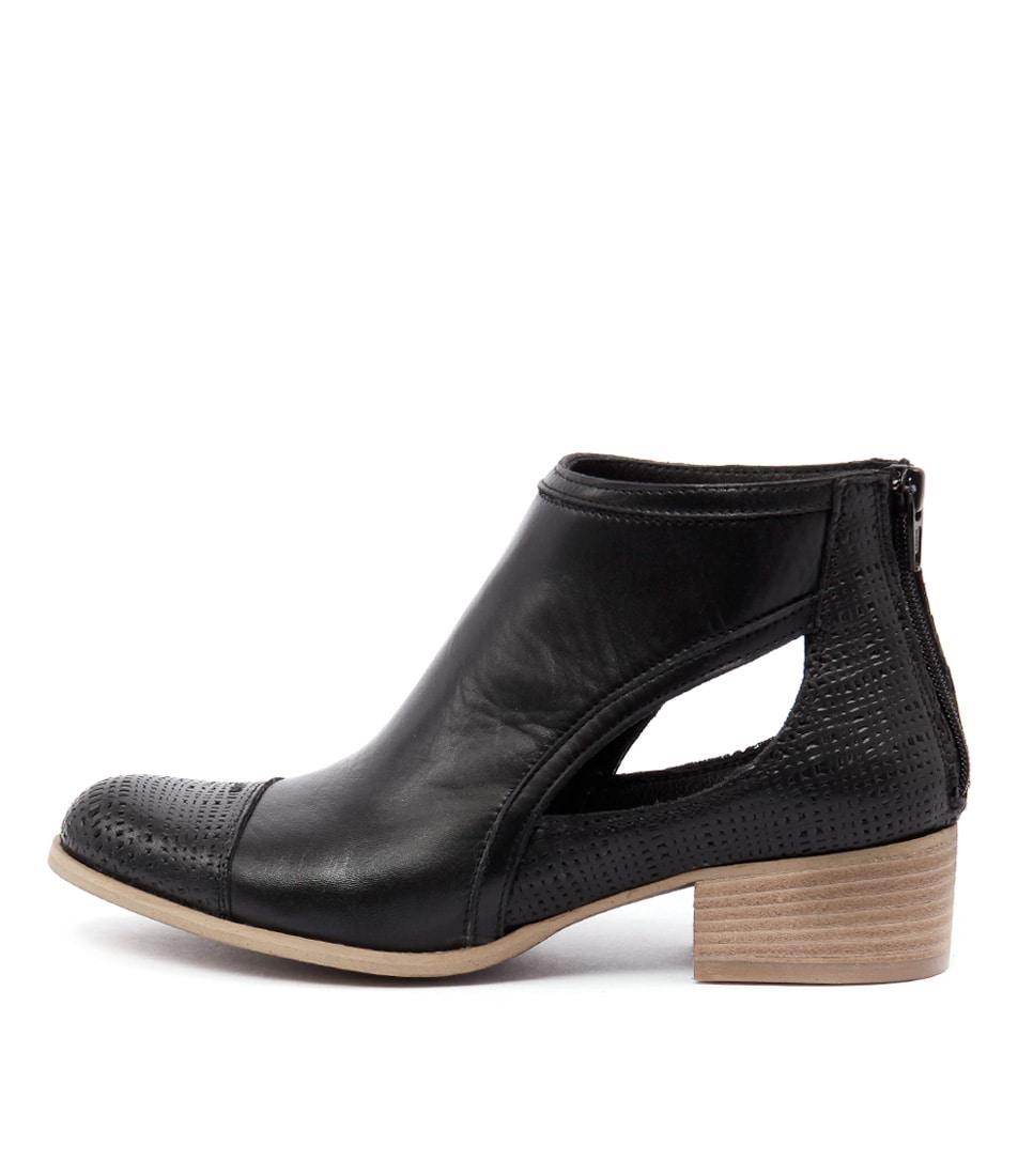 Maria Rossi Geraldine Nero Ankle Boots
