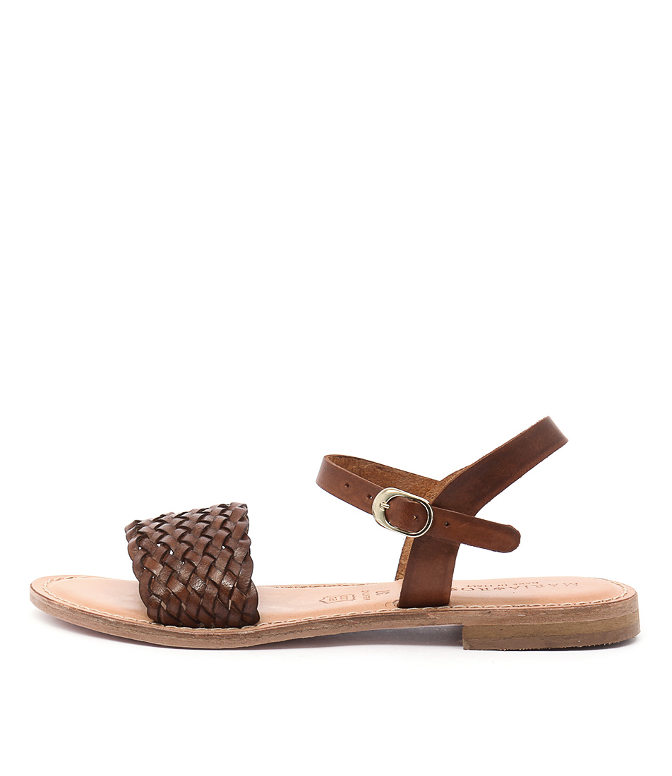 Maria Rossi Ebony Ma Vacch Tan Sandals