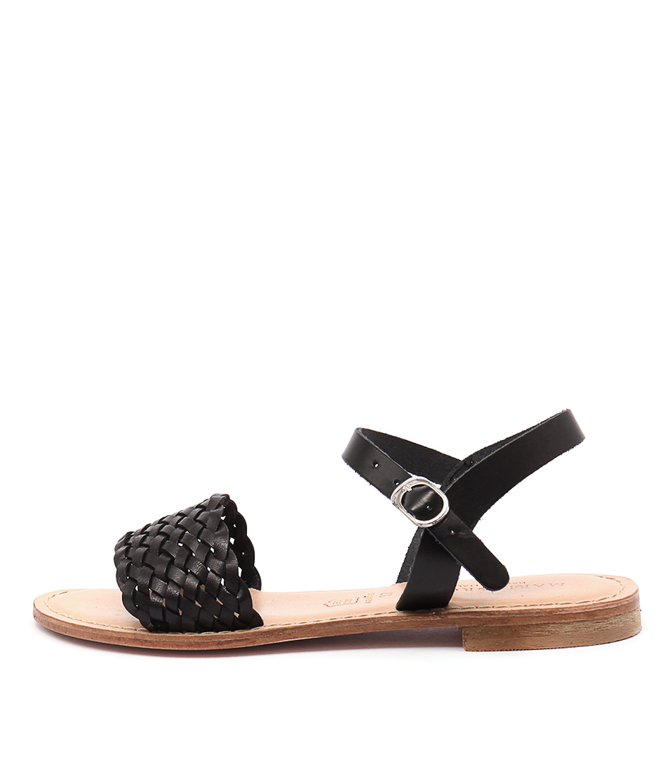 Maria Rossi Ebony Ma Vacch Black Sandals