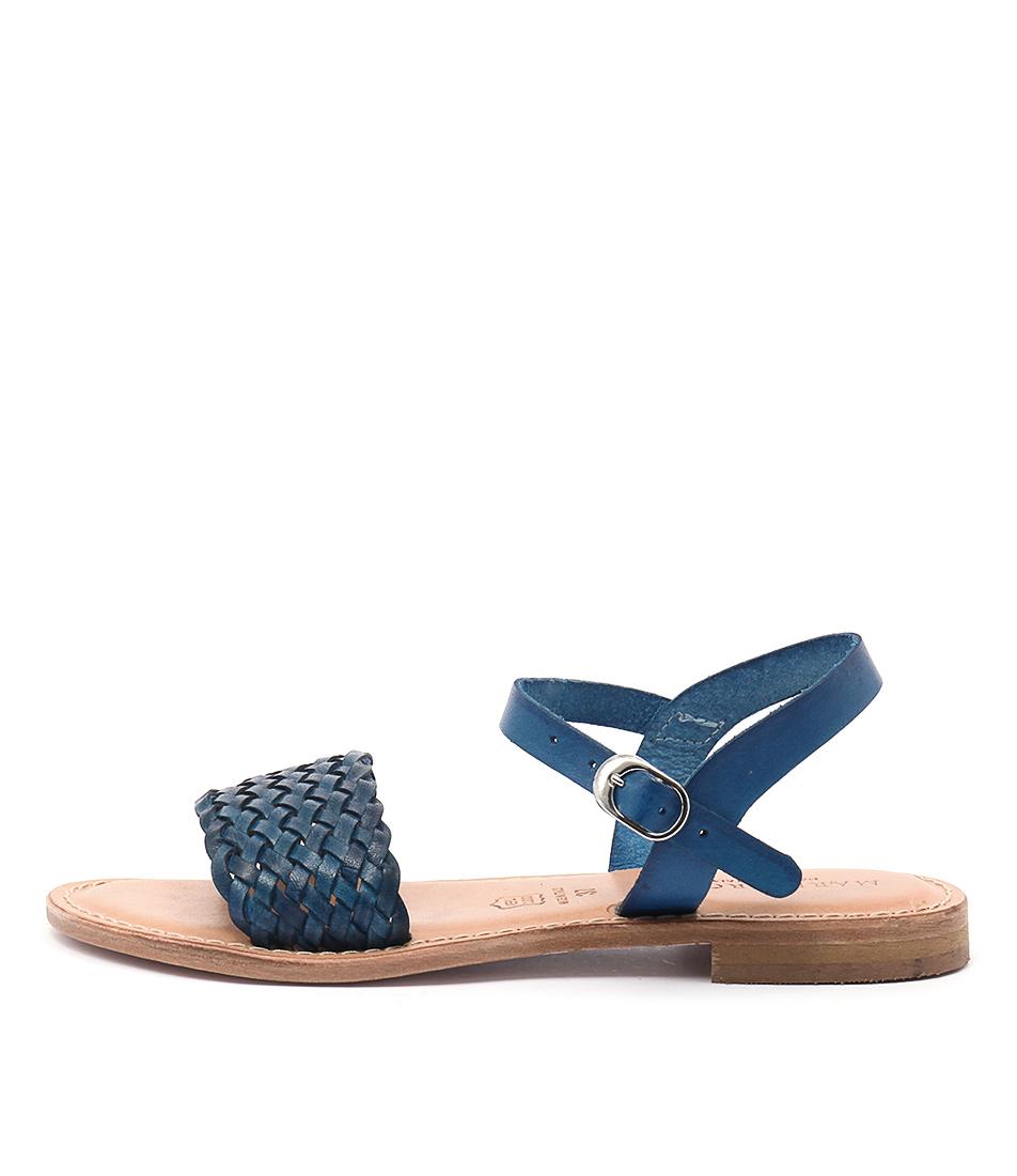 Maria Rossi Ebony Ma Vacch Blue Sandals
