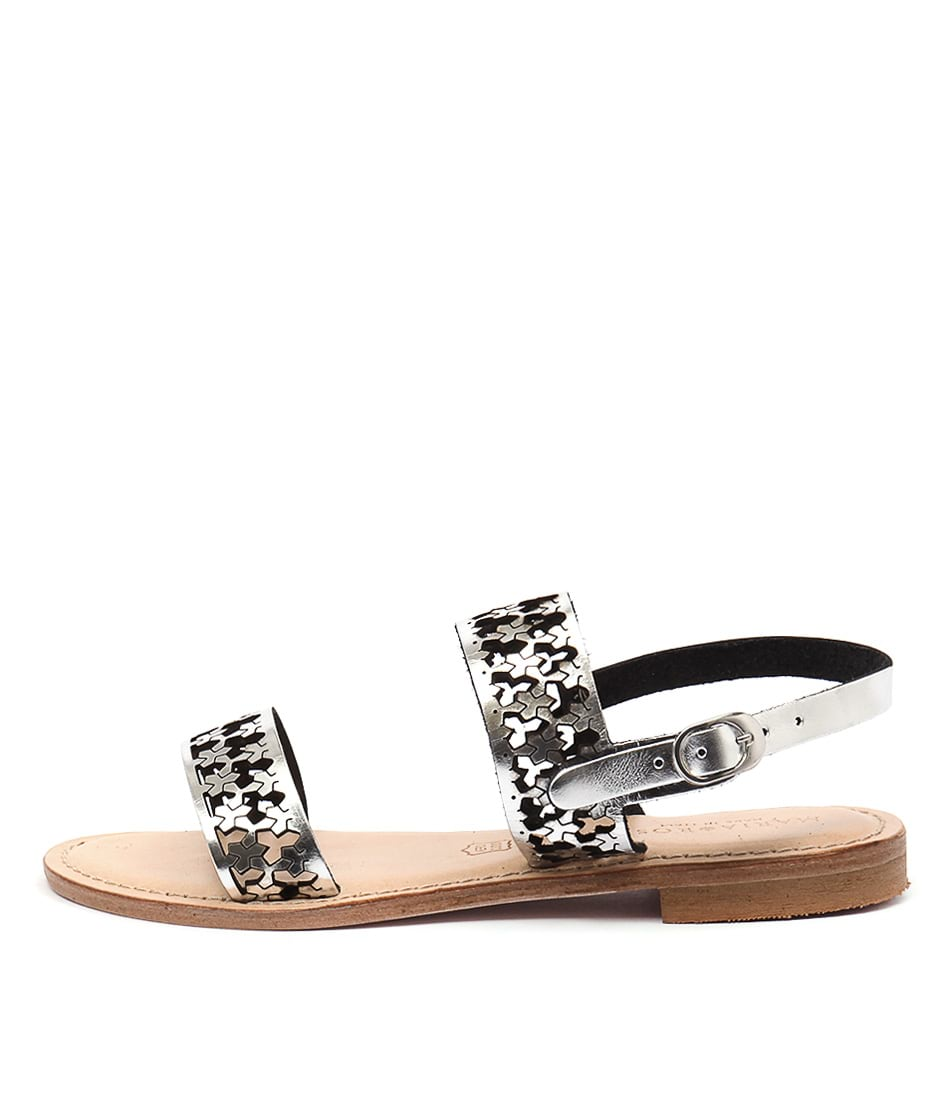 Maria Rossi Eden Silver Casual Flat Sandals