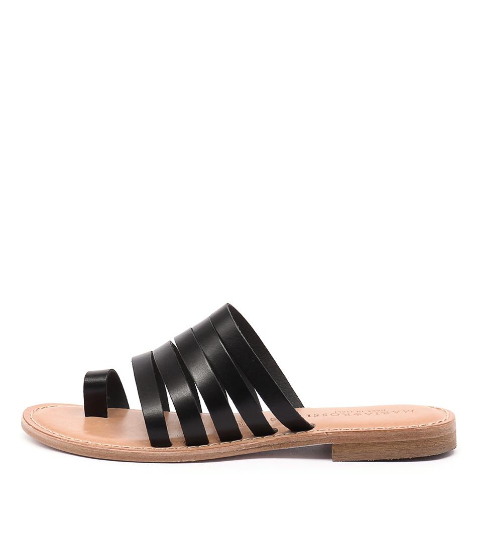 Maria Rossi Evie Ma Vacch Black Sandals