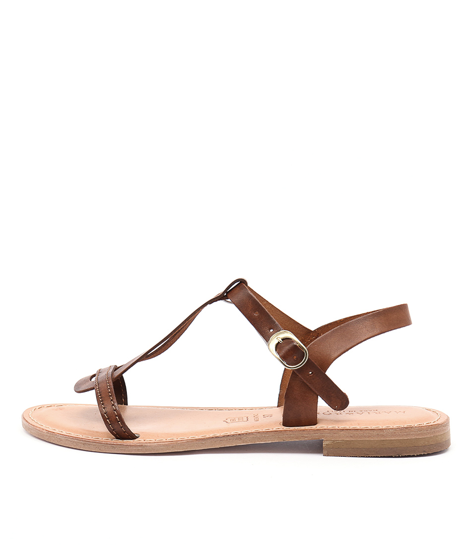 Maria Rossi Erin Vacch Tan Casual Flat Sandals