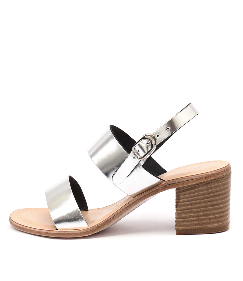 Maria Rossi Ellie Ma Argento Casual Heeled Sandals