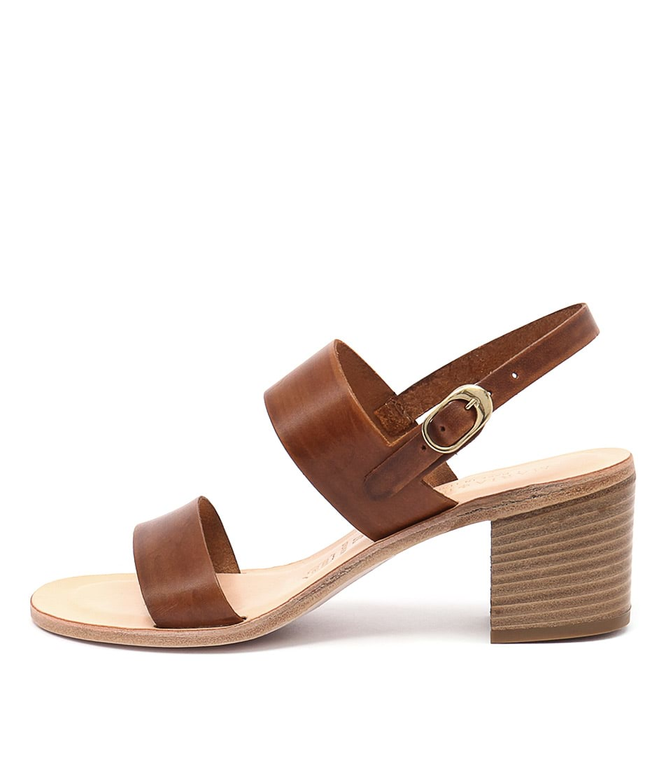 Maria Rossi Ellie Ma Vacch Tan Heeled Sandals