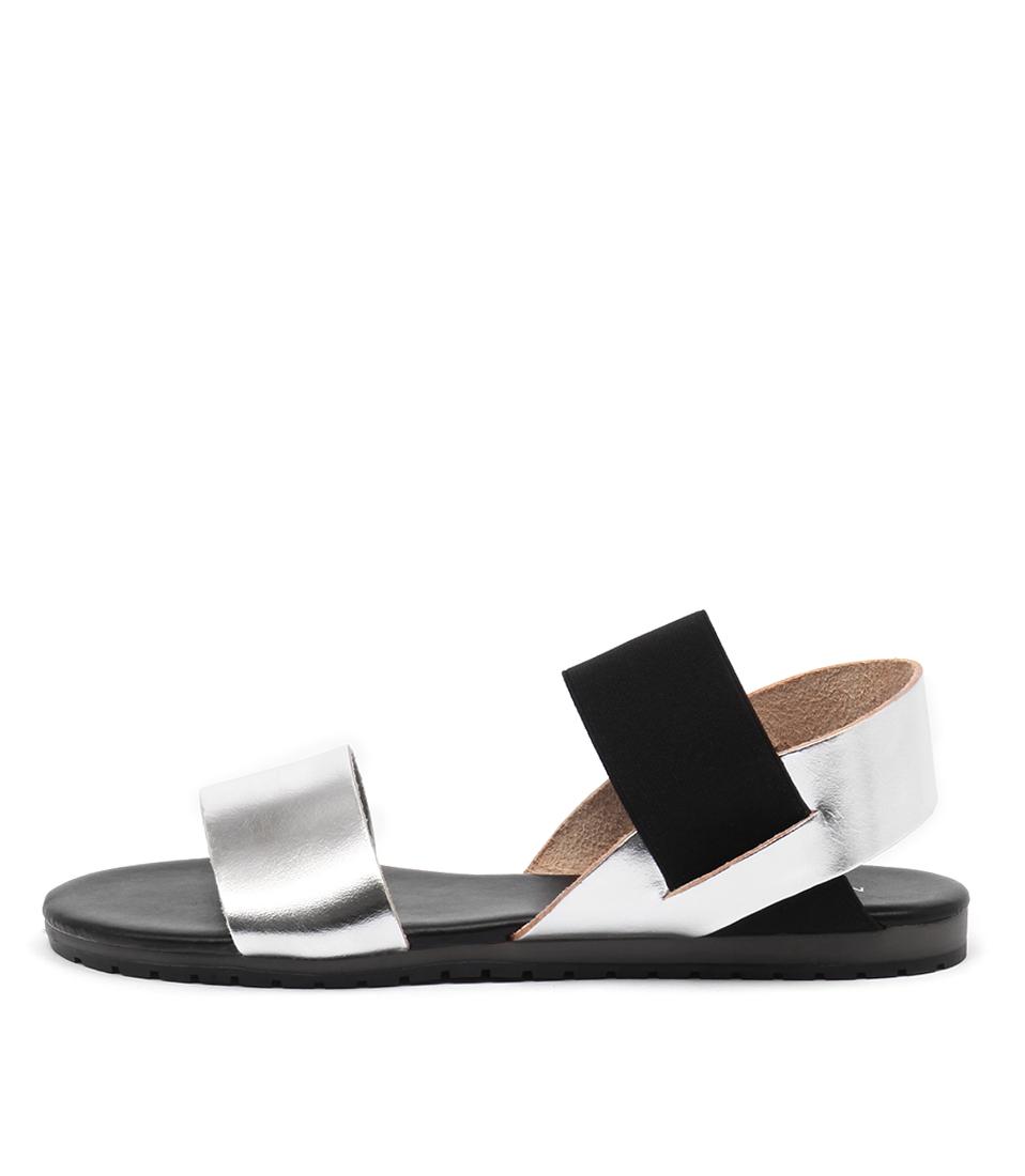 Maria Rossi Valda Argento Nero Sandals