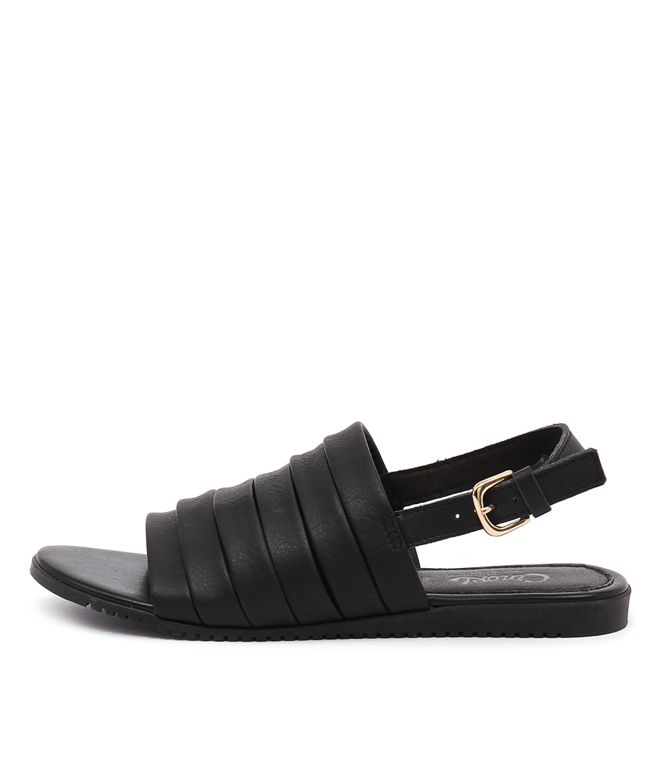 New Maria Rossi Valonia Nero Womens Shoes Casual Sandals Sandals Flat