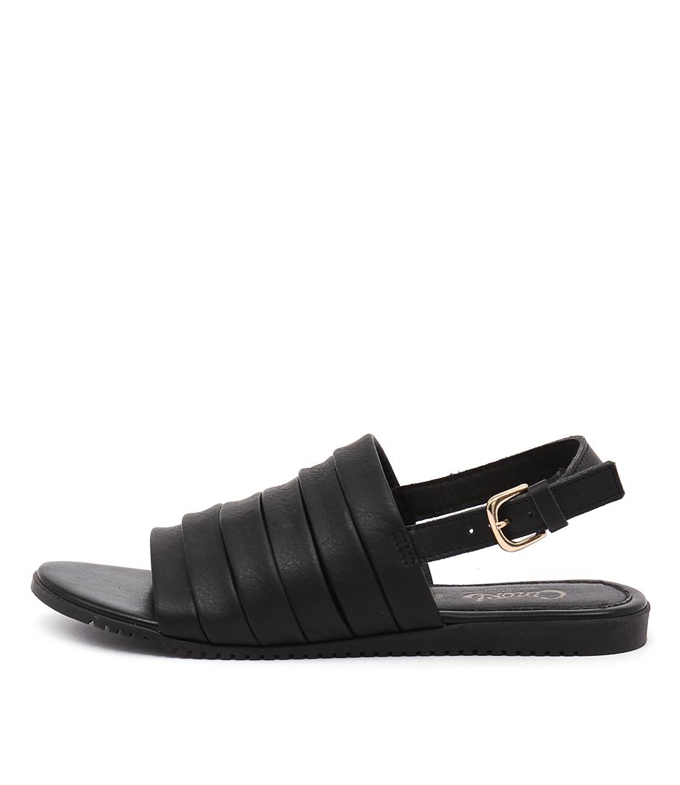 Maria Rossi Valonia Nero Casual Flat Sandals