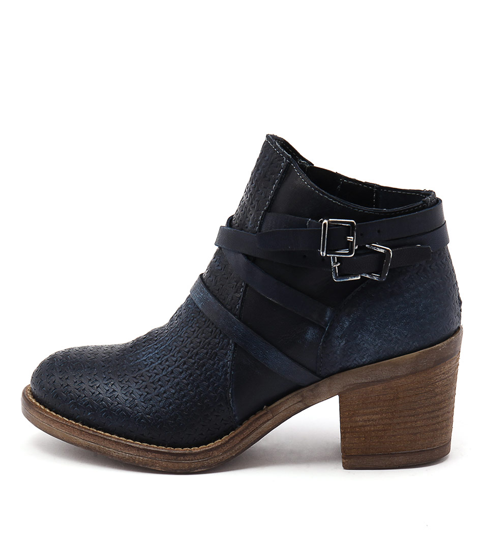 Maria Rossi Venetia Blue Casual Ankle Boots