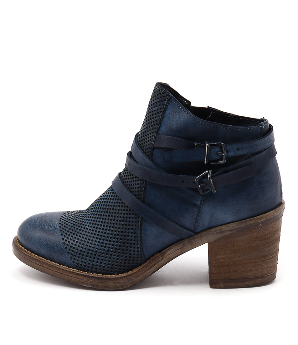 Maria Rossi Venus St Blue Casual Ankle Boots