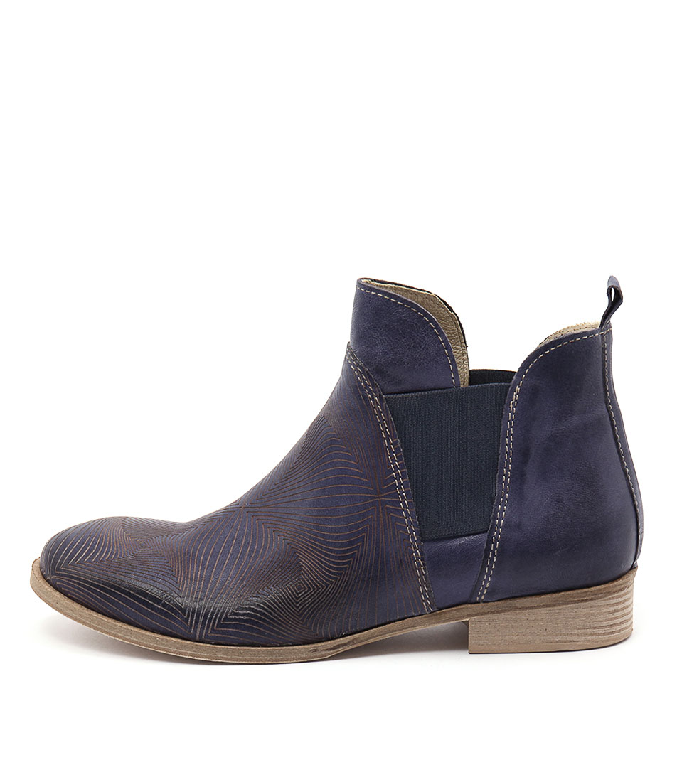 Maria Rossi Calone Blue Ankle Boots