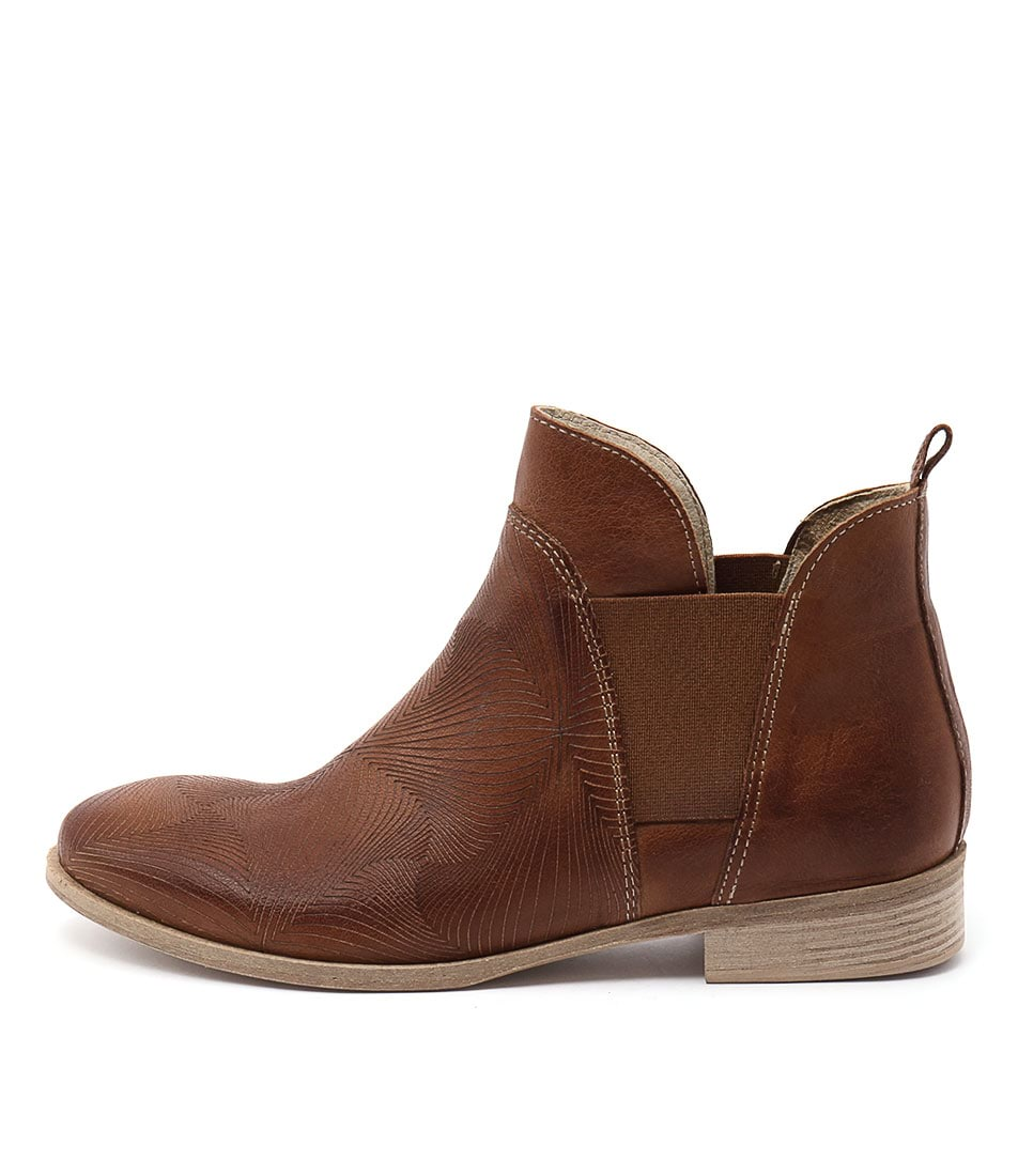 Maria Rossi Calone Tan Casual Ankle Boots