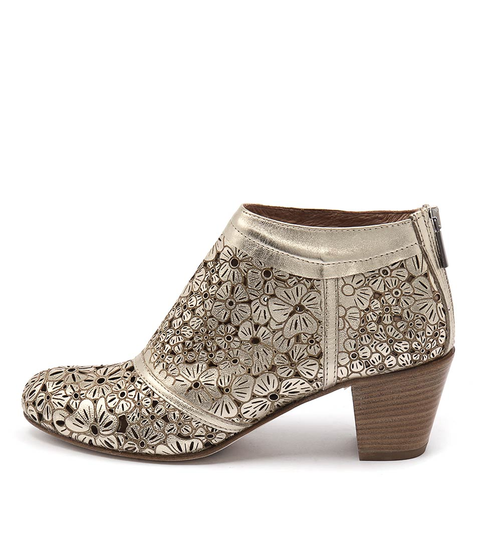 Maria Rossi Sabrina Soft Gold Casual Ankle Boots