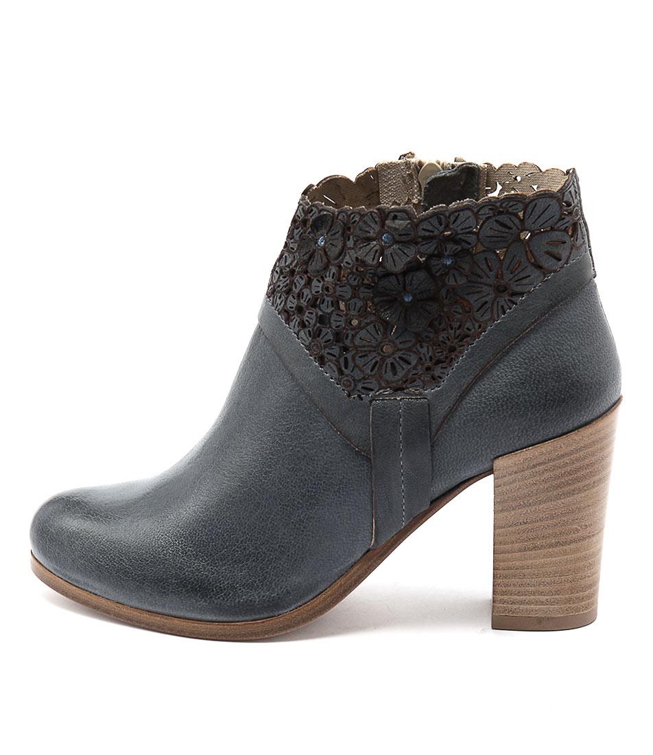 Maria Rossi Sebastiana Blue Ankle Boots