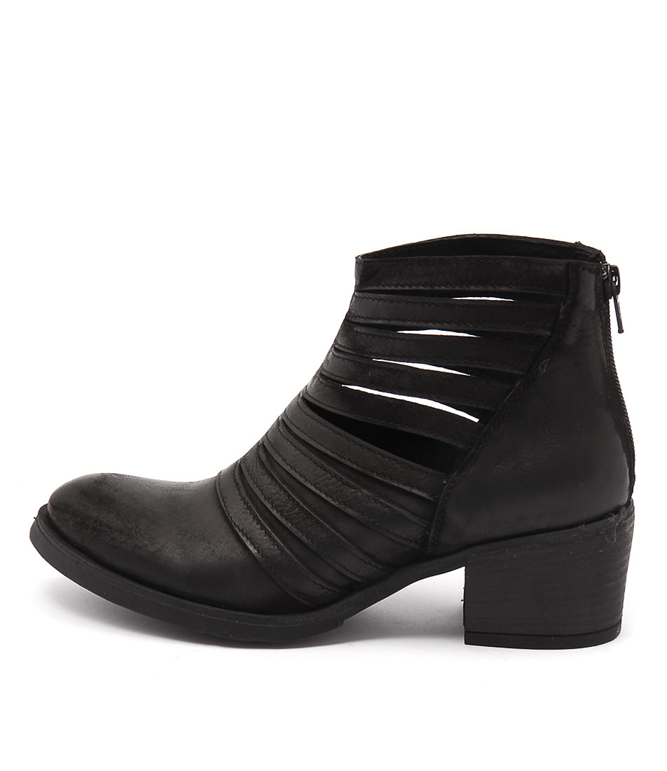 Maria Rossi Catriona Black Ankle Boots