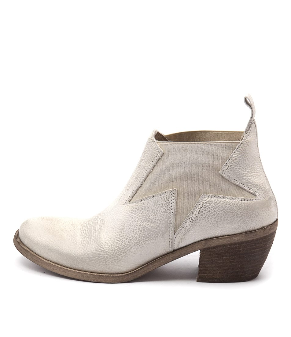 Maria Rossi Calli Silver Ankle Boots