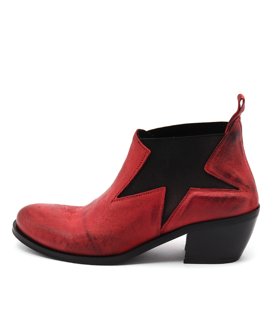 Maria Rossi Calli Red Ankle Boots