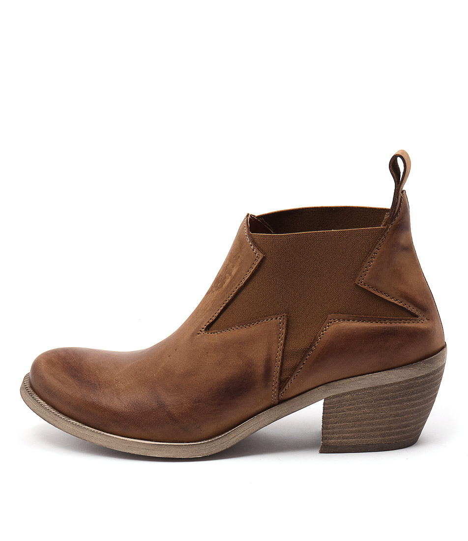 Maria Rossi Calli Tan Casual Ankle Boots