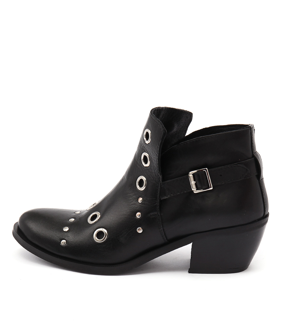 Maria Rossi Carin Black Ankle Boots