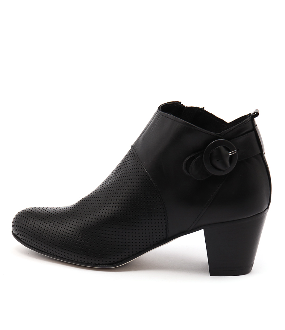 Maria Rossi Susana Black Casual Ankle Boots