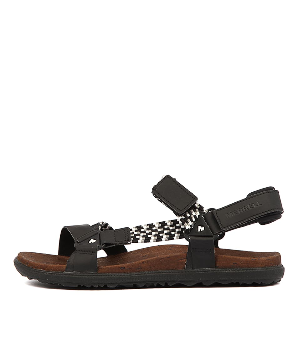 Buy Merrell Around Town Sunvue Woven Black Sandals online with free shipping