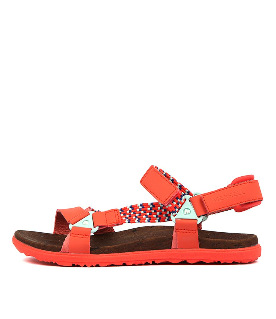 5022e5f4b New Merrell Around Town Sunvue Woven Womens Shoes Comfort Sandals Sandals  Flat