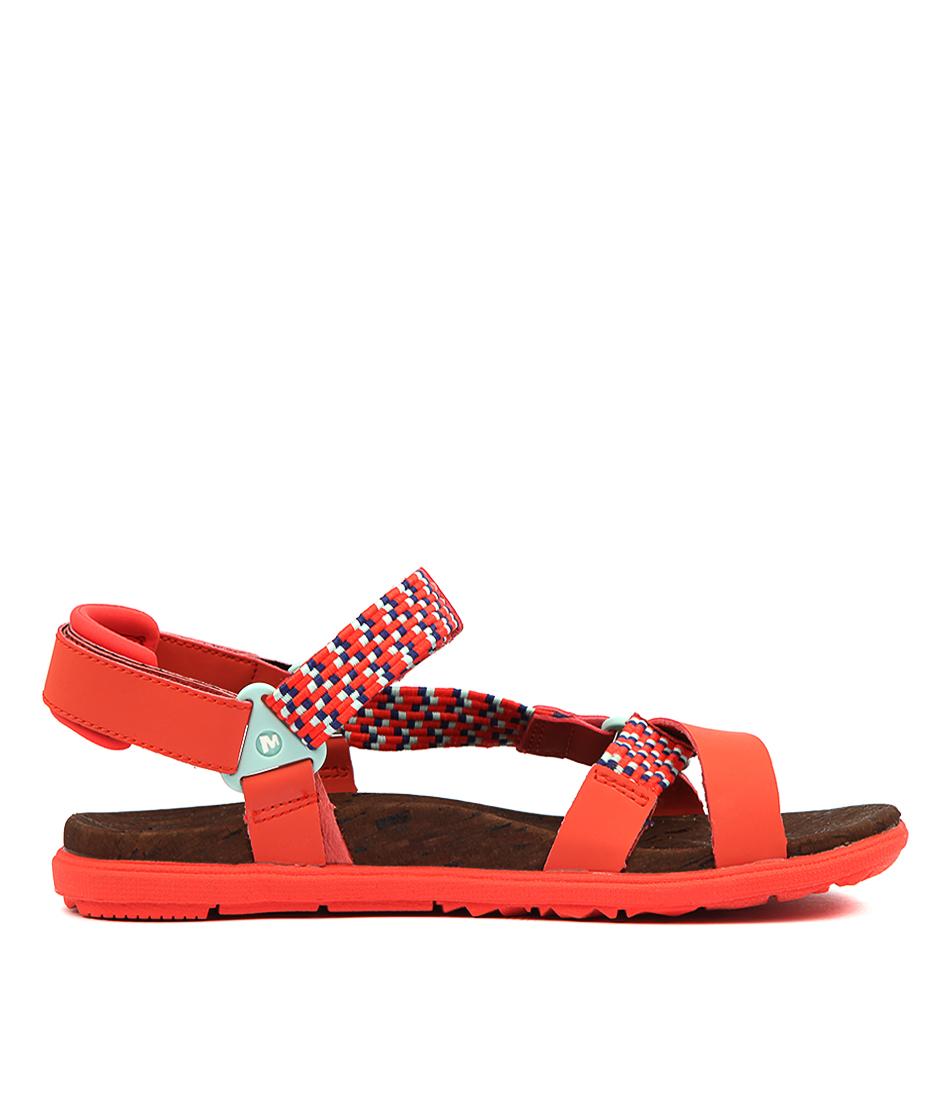 b8ca36705 New Merrell Around Town Sunvue Woven Womens Shoes Comfort Sandals ...