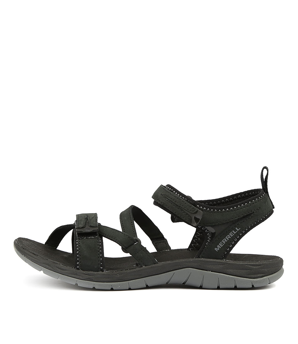 Buy Merrell Siren Strap Q2 Black Flat Sandals online with free shipping