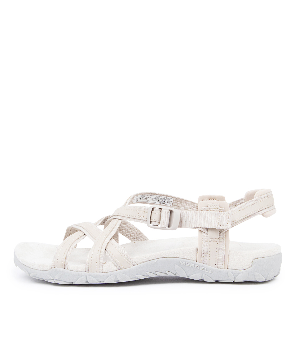 Buy Merrell Terran Ari Lattice Me Silver Lining Flat Sandals online with free shipping