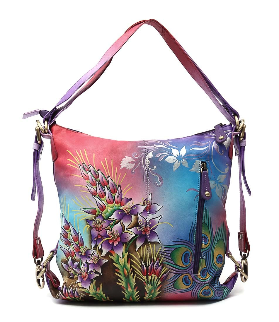 Modapelle Hand Painted Leather 3151 Mh Tinsel Lilly Bags