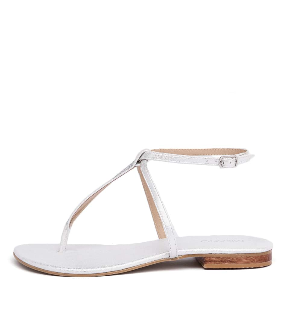 Misano Spey Silver Casual Flat Sandals