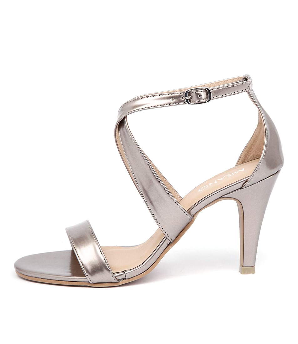 Misano Savvy Ms Nickel Casual Heeled Sandals