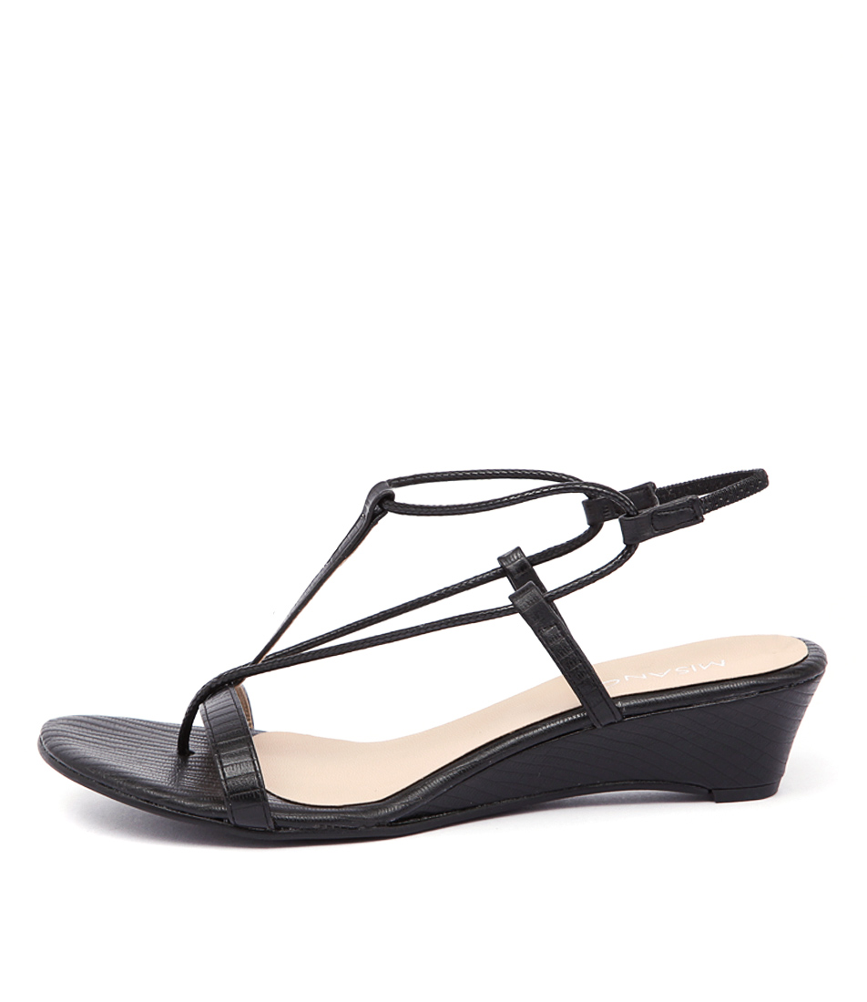 Misano Pepper Black Sling Sandals