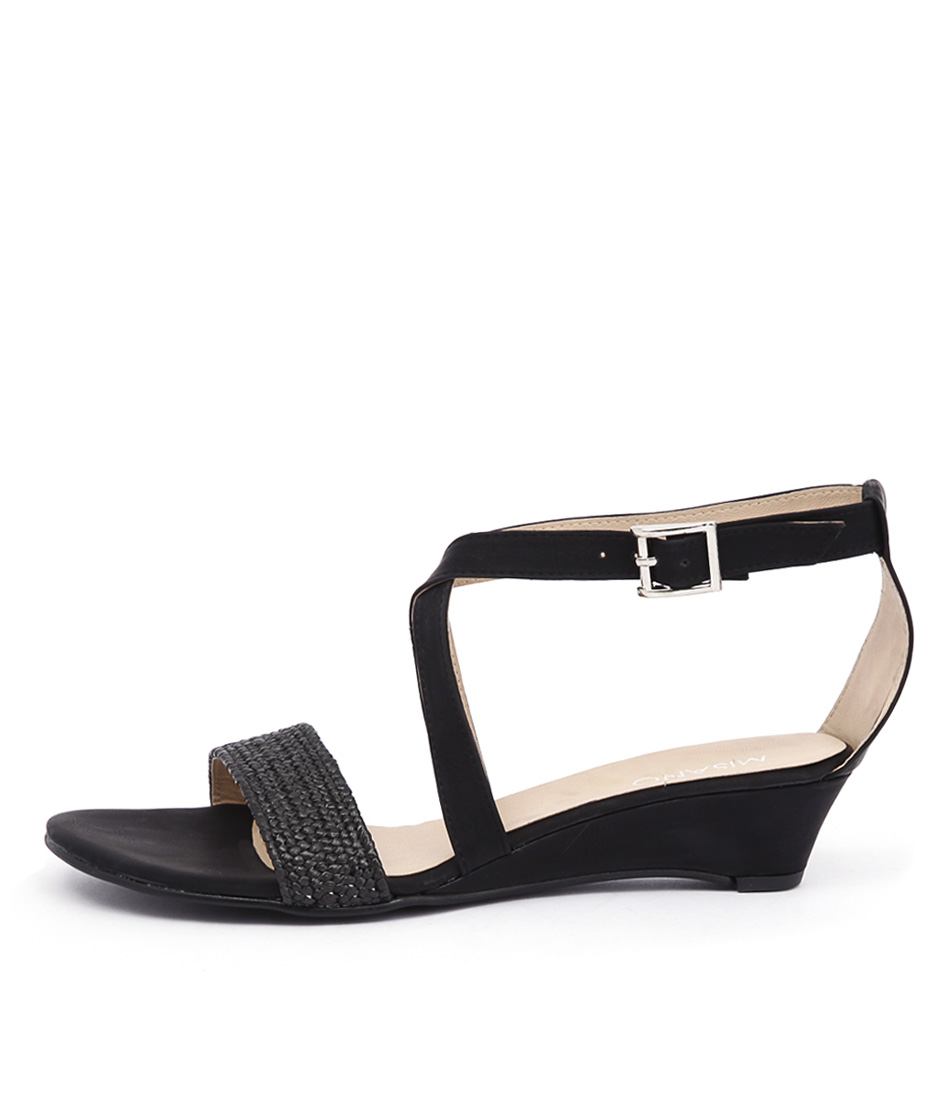 Misano Paros Black Casual Flat Sandals buy  online