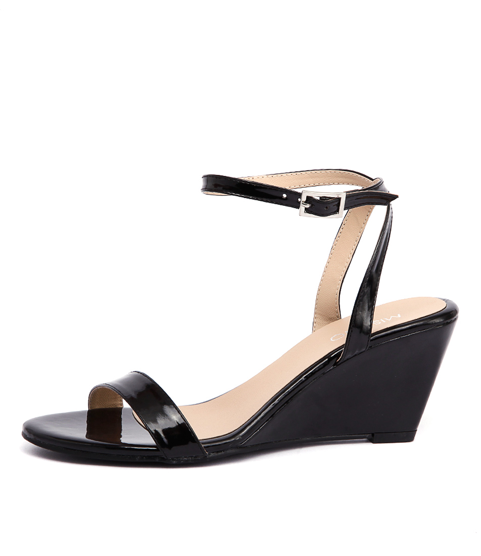 Misano Yates Black Dress Heeled Sandals