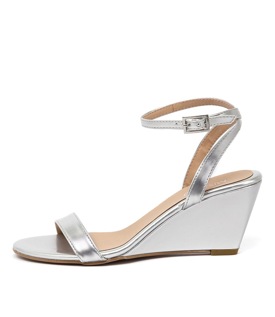 Misano Yates Silver Dress Heeled Sandals
