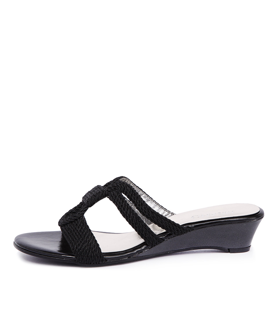 Misano Provence Black Sandals