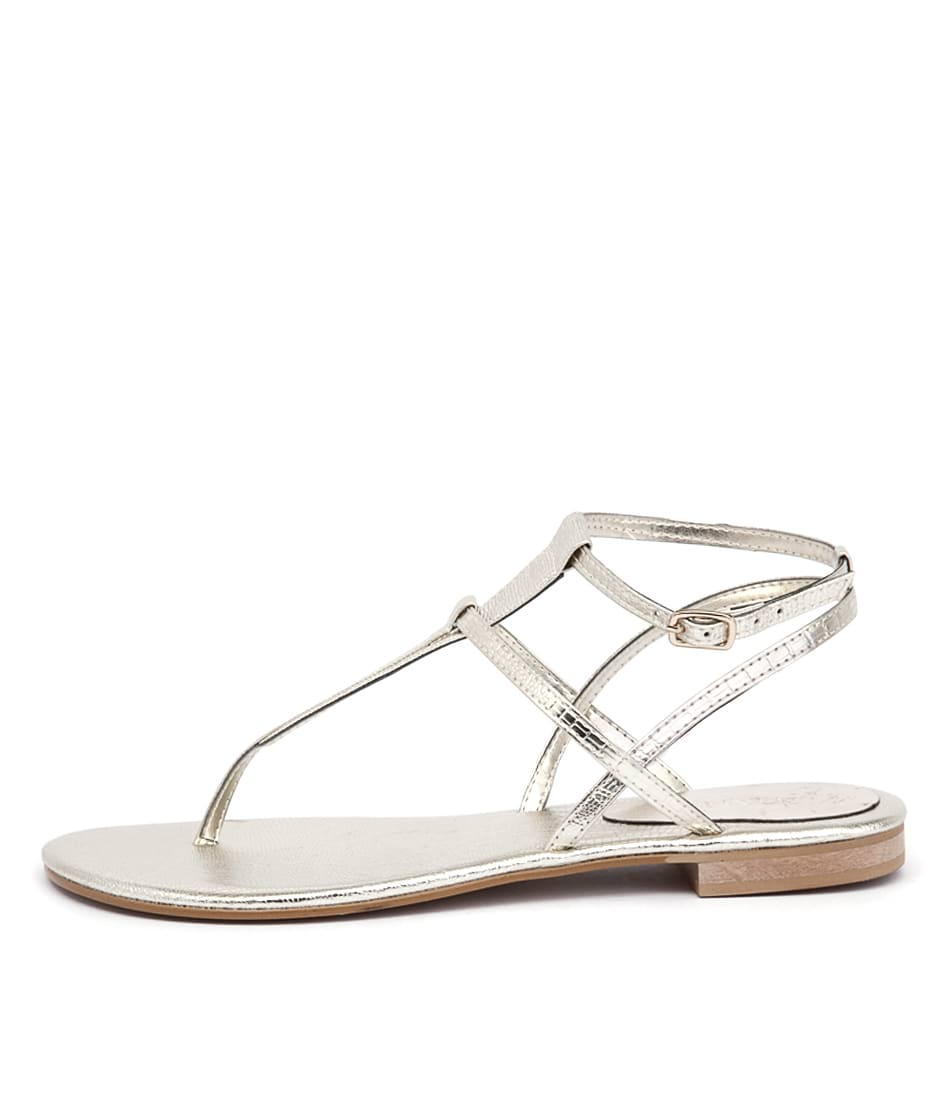 Misano Shizu Light Gold Casual Flat Sandals