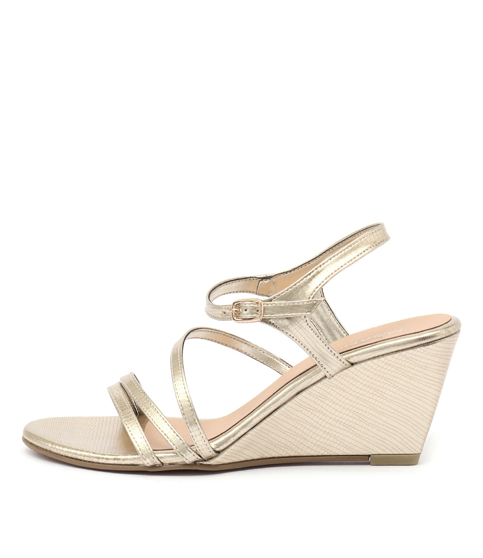 Misano Zephyr Light Gold Dress Heeled Sandals