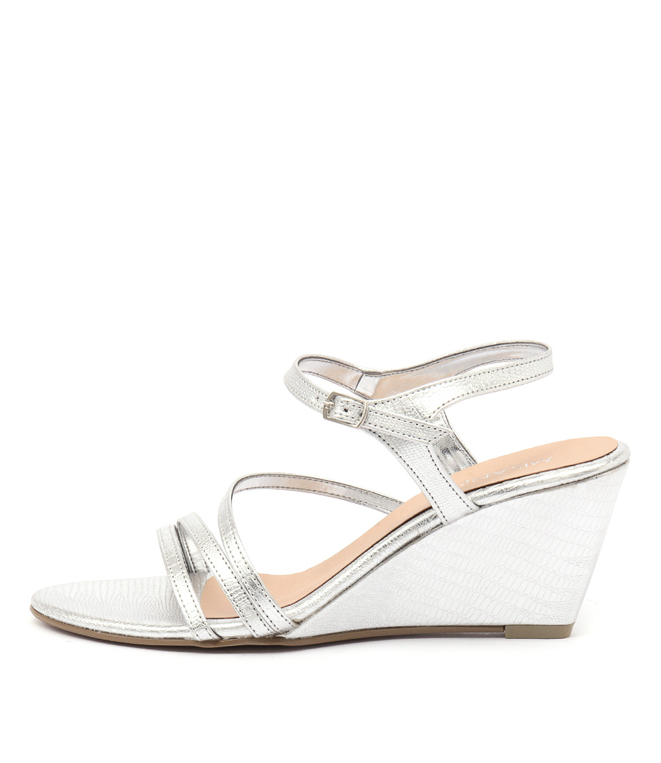 Misano Zephyr Silver Dress Heeled Sandals