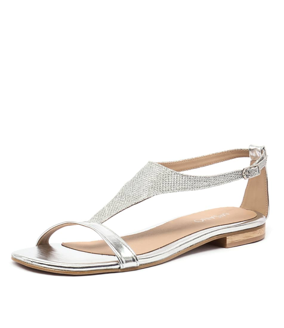 New Misano Simmond Silver Womens Shoes Dress Sandals