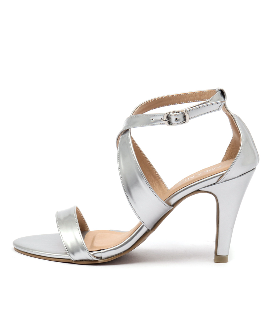Misano Savvy Ms Silver Casual Heeled Sandals