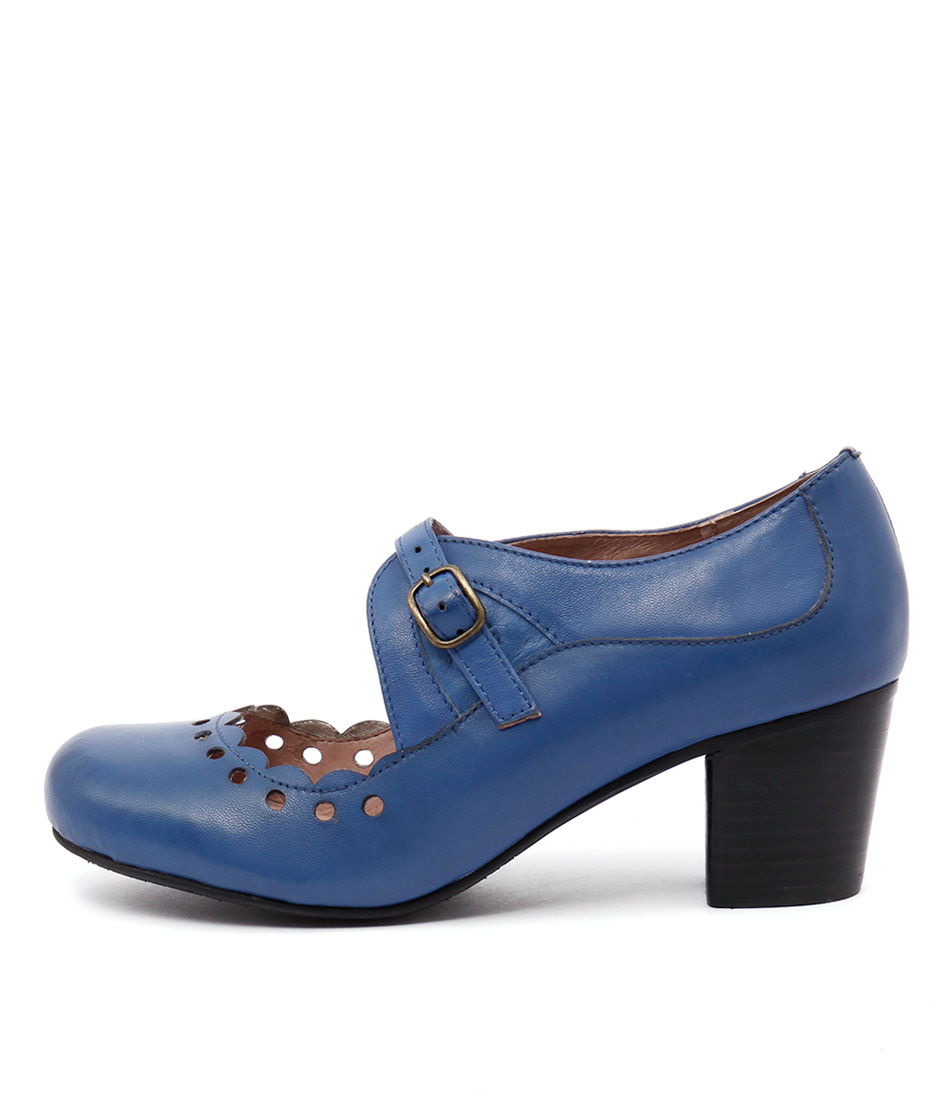 Miz Mooz Elaine Cobalt Casual Heeled Shoes