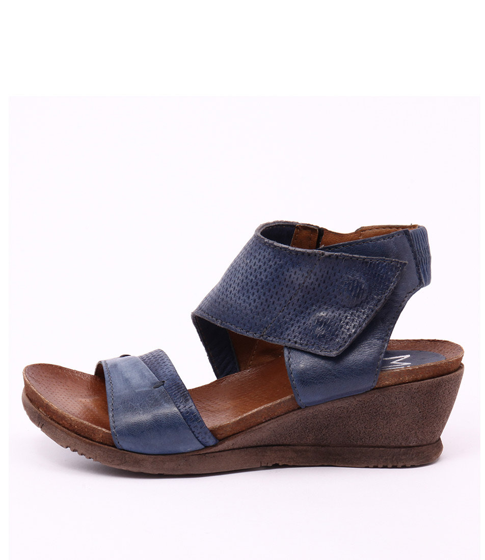 Miz Mooz Seline Navy Casual Heeled Sandals