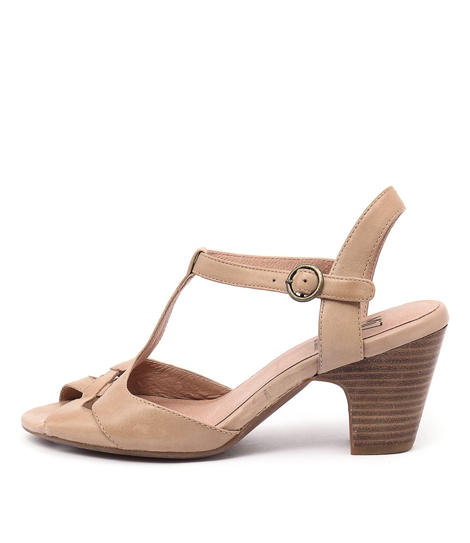 Miz Mooz Pearl Nude Casual Heeled Sandals