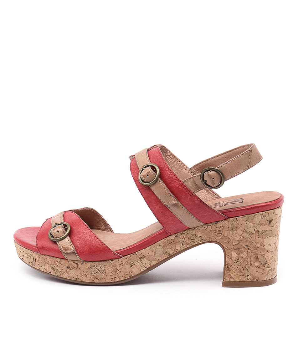 Miz Mooz Charming Mm Red Sandals