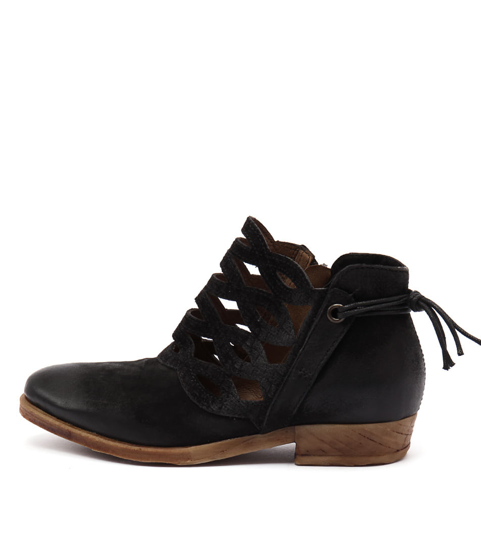 Miz Mooz Dido Black Casual Ankle Boots